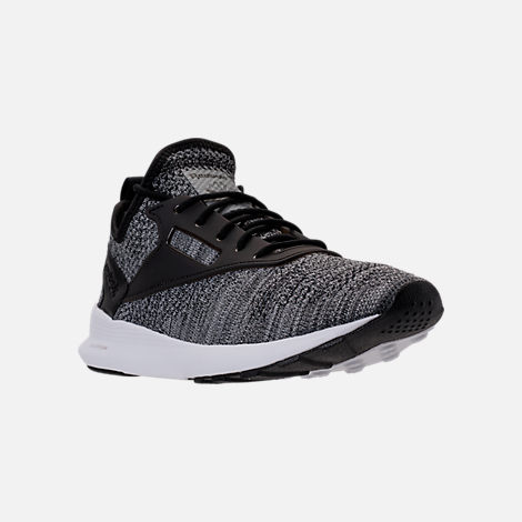 Three Quarter view of Men's Reebok Zoku Runner ISM Casual Shoes in Black/Flint Grey/Steel White