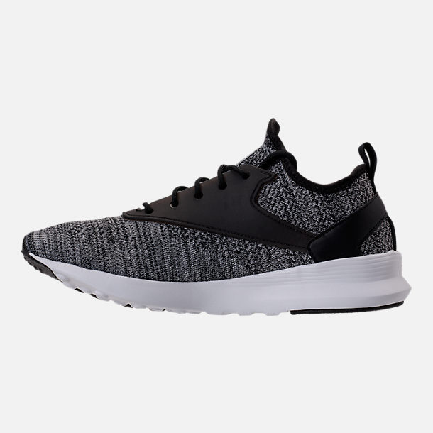 Left view of Men's Reebok Zoku Runner ISM Casual Shoes in Black/Flint Grey/Steel White