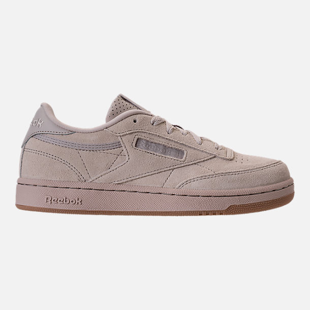 Right view of Boys' Grade School Reebok Club C Casual Shoes in Sandstone/Gum