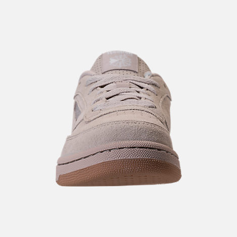 Front view of Boys' Grade School Reebok Club C Casual Shoes in Sandstone/Gum