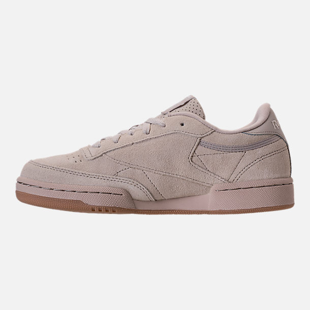 Left view of Boys' Grade School Reebok Club C Casual Shoes in Sandstone/Gum
