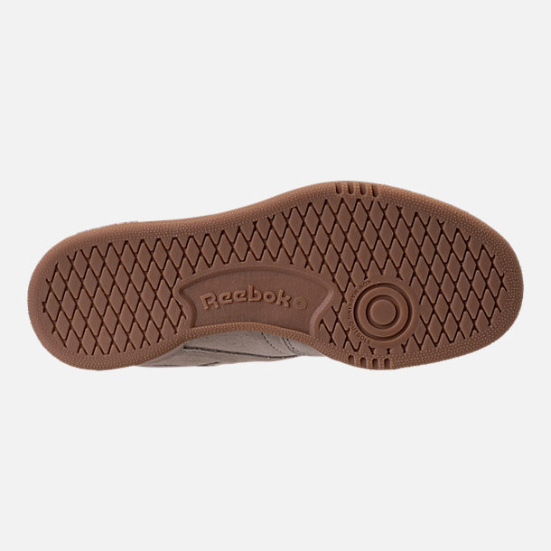 Bottom view of Boys' Grade School Reebok Club C Casual Shoes in Sandstone/Gum