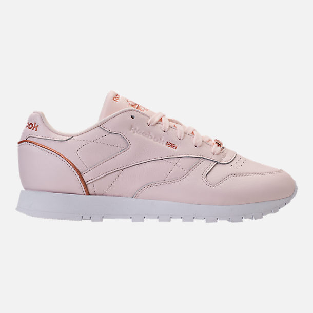 Right view of Women's Reebok Classic Leather HW Casual Shoes in Pale Pink