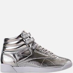 Women's Reebok Freestyle Hi Metallic Casual Shoes