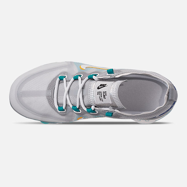 Top view of Big Kids' Nike Air VaporMax 2019 Running Shoes in Pure Platinum/Teal Nebula/Game Royal
