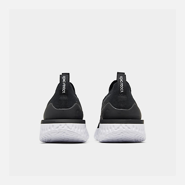 bd255b608 Left view of Women's Nike Epic Phantom React Flyknit Running Shoes in  Black/Black/