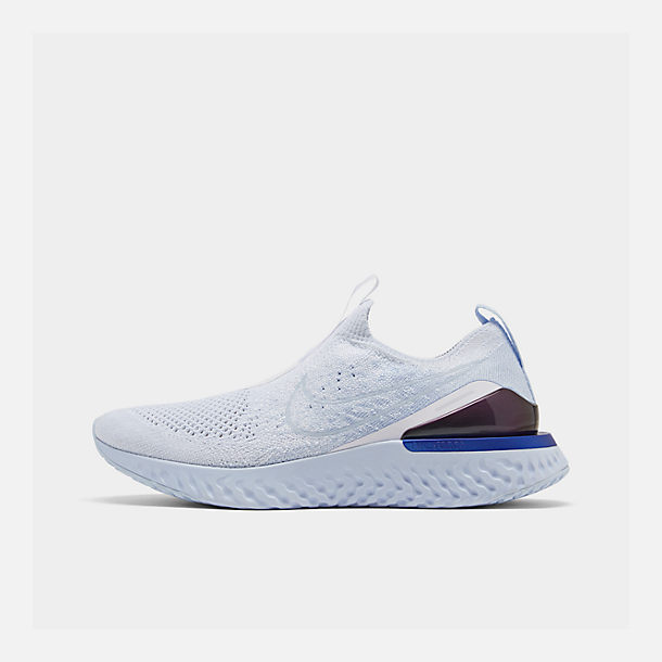 e3e5d3141 Right view of Women's Nike Epic Phantom React Flyknit Running Shoes in  White/White/