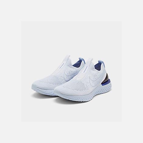 e3431973ea775 Three Quarter view of Women s Nike Epic Phantom React Flyknit Running Shoes  in White White