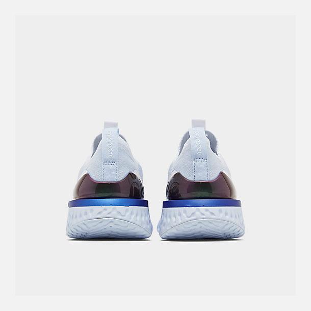 2f8d0e68a8b51 Left view of Women s Nike Epic Phantom React Flyknit Running Shoes in  White White