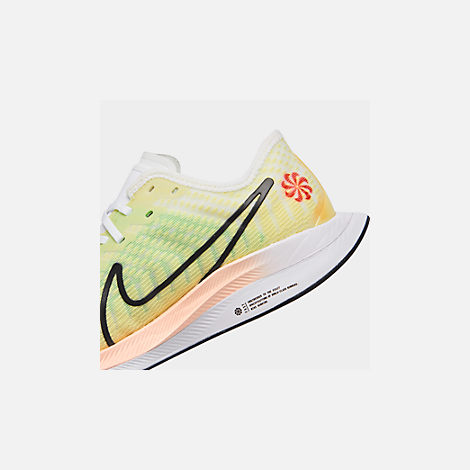 Front view of Women's Nike Zoom Pegasus Turbo 2 Running Shoes in Luminous Green/Black/White/Crimson