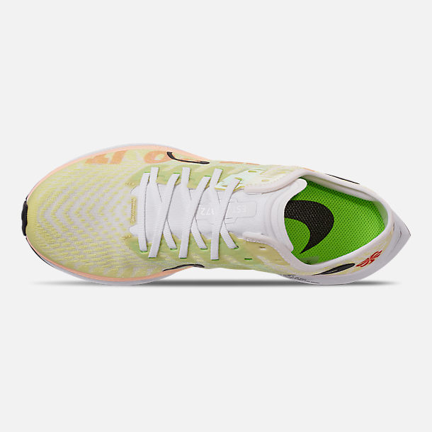 Top view of Women's Nike Zoom Pegasus Turbo 2 Running Shoes in Luminous Green/Black/White/Crimson
