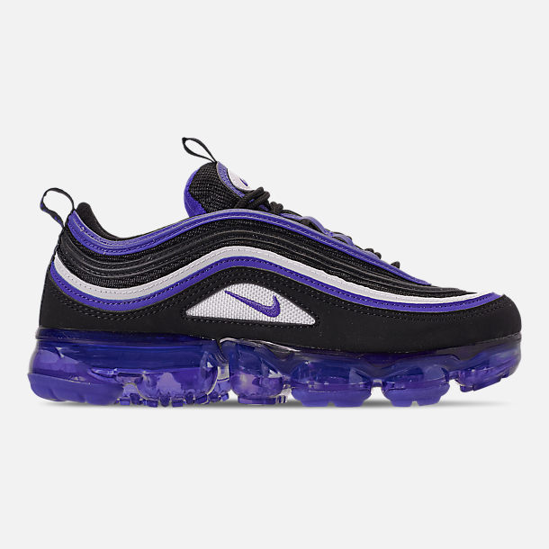 Right view of Kids' Nike Air VaporMax '97 Casual Shoes in Black/Persian Violet