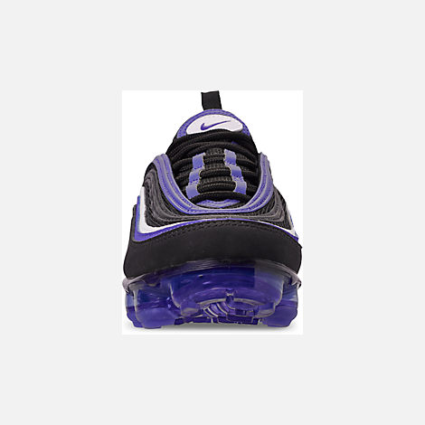 Front view of Kids' Nike Air VaporMax '97 Casual Shoes in Black/Persian Violet