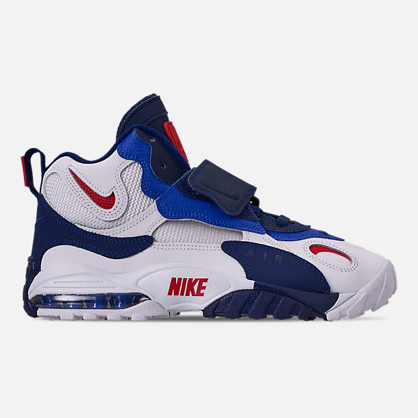 Right view of Men's Nike Air Max Speed Turf Training Shoes in White/University Red/Blued Void/Racer Blue