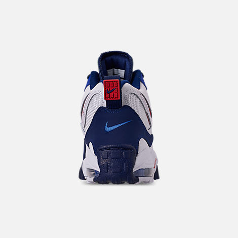 Back view of Men's Nike Air Max Speed Turf Training Shoes in White/University Red/Blued Void/Racer Blue
