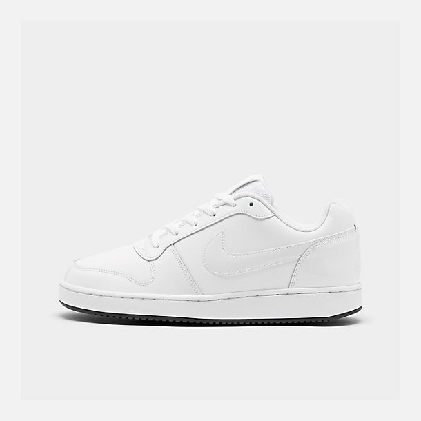 Right view of Men's Nike Ebernon Low Casual Shoes in White/White/Black