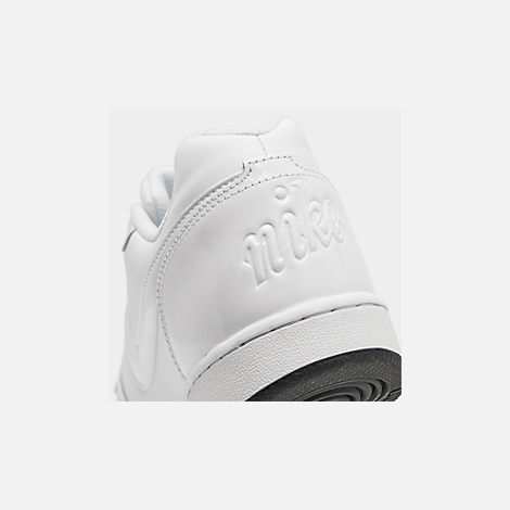 Front view of Men's Nike Ebernon Low Casual Shoes in White/White/Black