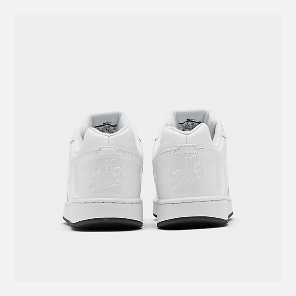 Left view of Men's Nike Ebernon Low Casual Shoes in White/White/Black