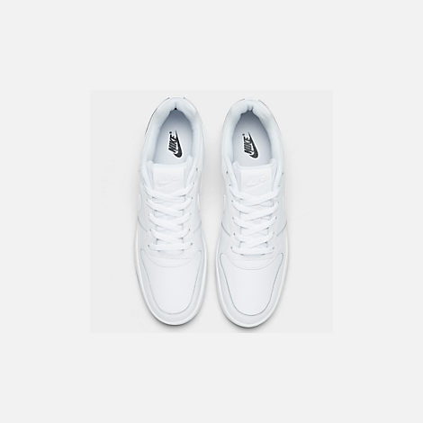 Back view of Men's Nike Ebernon Low Casual Shoes in White/White/Black
