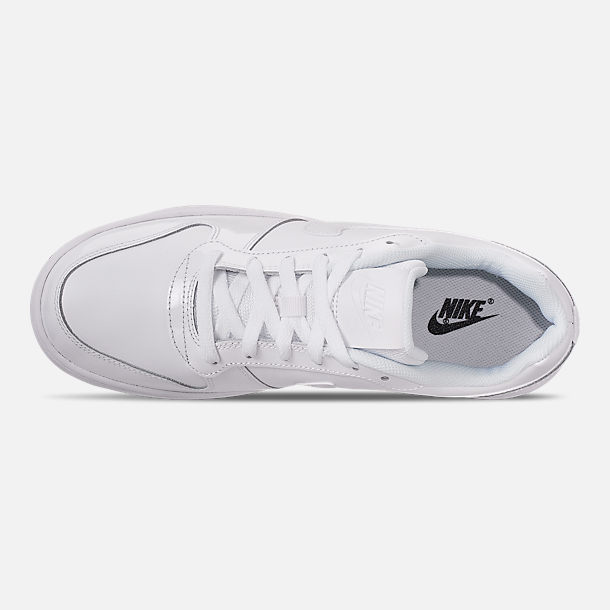 Top view of Men's Nike Ebernon Low Casual Shoes in White/White/Black