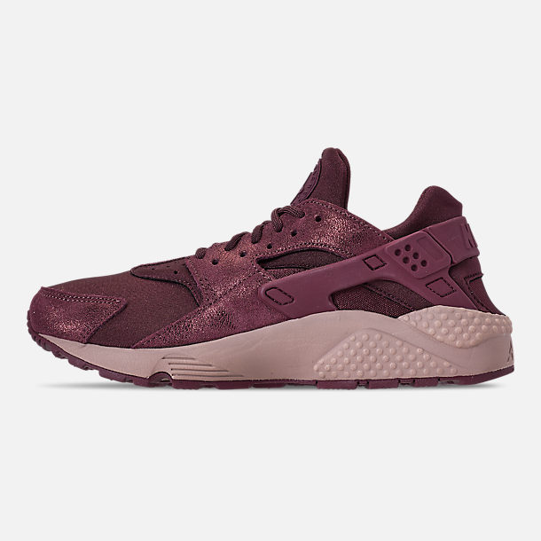 Left view of Women's Nike Air Huarache Run BL Casual Shoes in Burgundy Crush/Burgundy Crush/Diffused