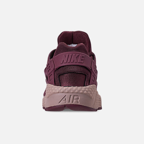 Back view of Women's Nike Air Huarache Run BL Casual Shoes in Burgundy Crush/Burgundy Crush/Diffused