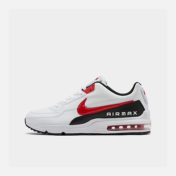 945b260e7e94 Right view of Men s Nike Air Max LTD 3 Casual Shoes in White University Red