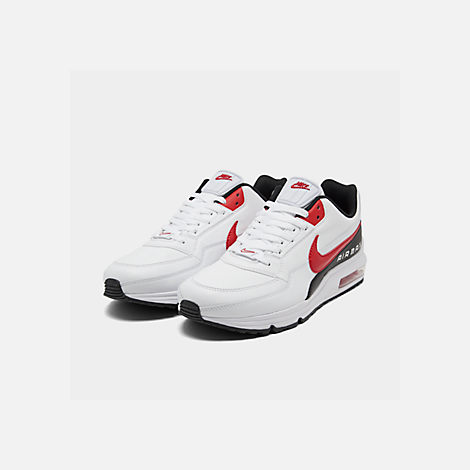 Three Quarter view of Men's Nike Air Max LTD 3 Casual Shoes in White/University Red/Black