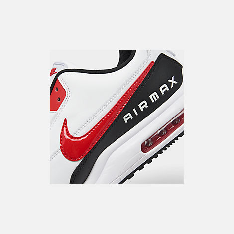 Front view of Men's Nike Air Max LTD 3 Casual Shoes in White/University Red/Black