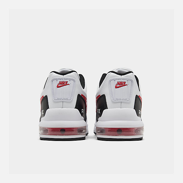 Left view of Men's Nike Air Max LTD 3 Casual Shoes in White/University Red/Black