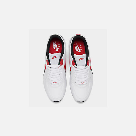 Back view of Men's Nike Air Max LTD 3 Casual Shoes in White/University Red/Black