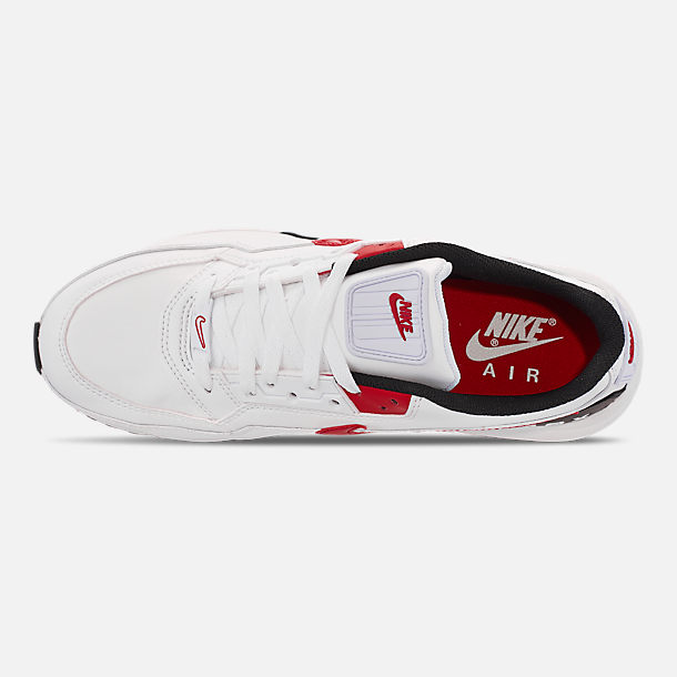 Top view of Men's Nike Air Max LTD 3 Casual Shoes in White/University Red/Black