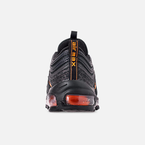 Back view of Boys' Big Kids' Nike Air Max 97 Pollux Casual Shoes in Off Noire/Orange Trance/Thunder Grey