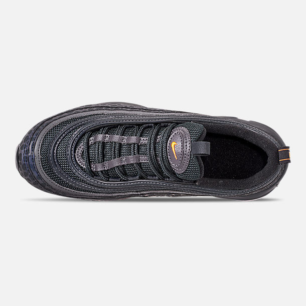Top view of Boys' Big Kids' Nike Air Max 97 Pollux Casual Shoes in Off Noire/Orange Trance/Thunder Grey