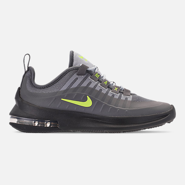 Right view of Big Kids' Nike Air Max Axis Casual Shoes in Anthracite/Volt/Cool Grey/Black/Purple