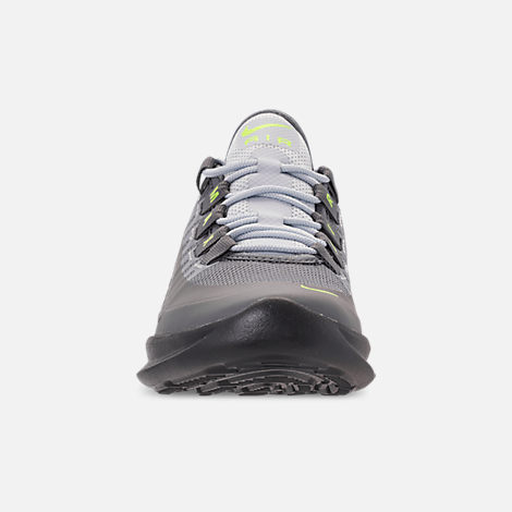 Front view of Big Kids' Nike Air Max Axis Casual Shoes in Anthracite/Volt/Cool Grey/Black/Purple