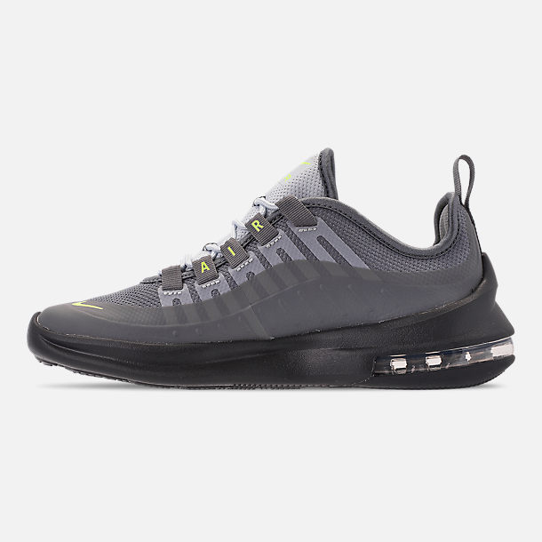 Left view of Big Kids' Nike Air Max Axis Casual Shoes in Anthracite/Volt/Cool Grey/Black/Purple