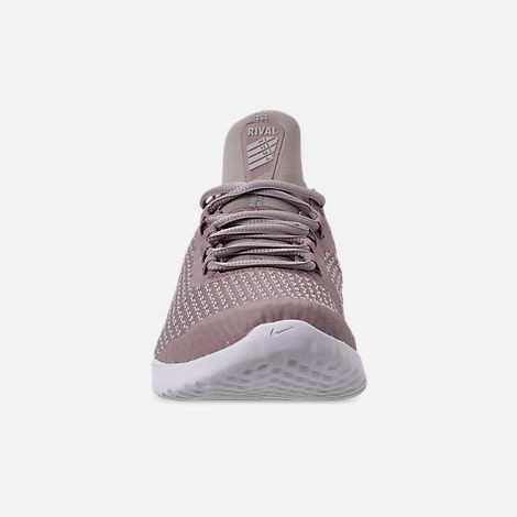 Front view of Women's Nike Renew Rival Running Shoes in Diffused Taupe/Moon Particle/Summit White