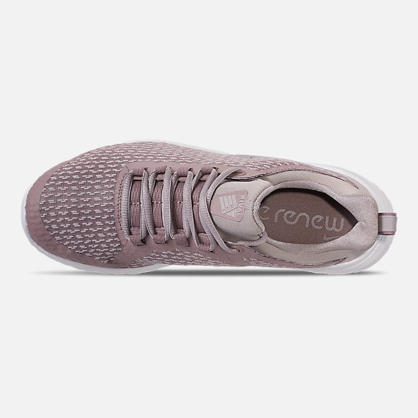 Top view of Women's Nike Renew Rival Running Shoes in Diffused Taupe/Moon Particle/Summit White