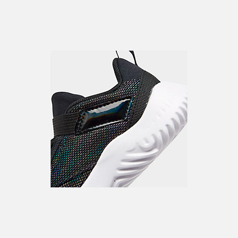 Front view of Boys' Toddler Jordan Proto 23 SE Training Shoes in Black/Cyber/Mystic Green
