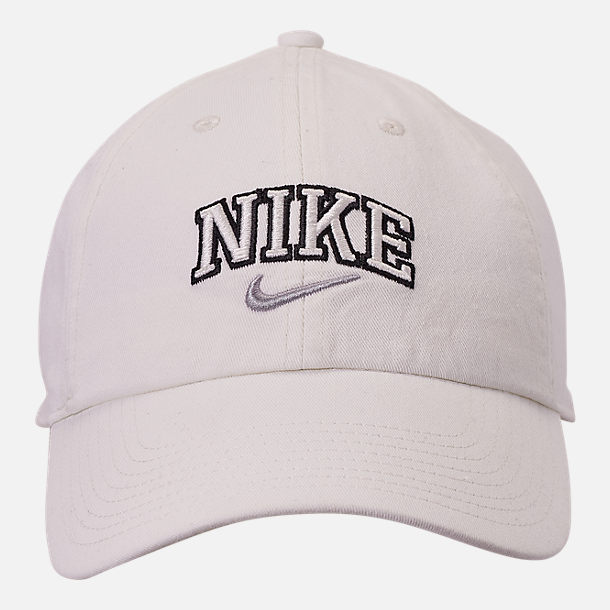 Back view of Nike Sportswear H86 Varsity Adjustable Back Hat in Sail/Atmosphere Grey
