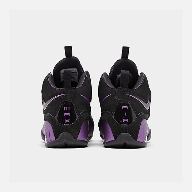 wholesale dealer 9d0c0 4742c Left view of Boys  Big Kids  Nike Air Max Wavy Basketball Shoes in Black