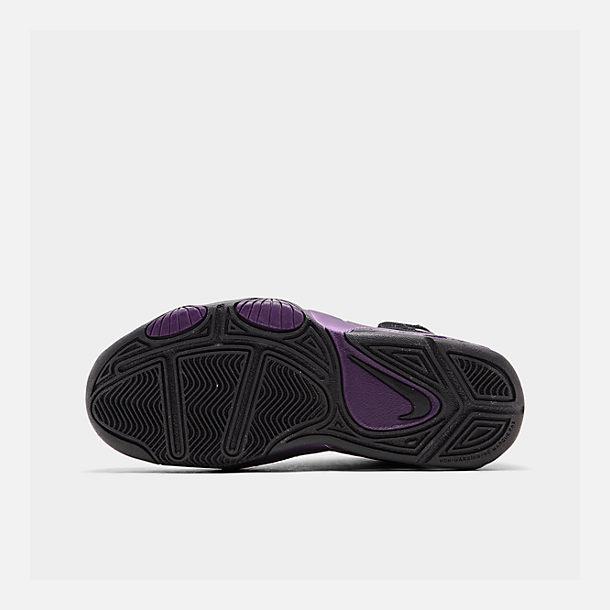 save off cc81e b6ca1 Bottom view of Boys  Big Kids  Nike Air Max Wavy Basketball Shoes in Black
