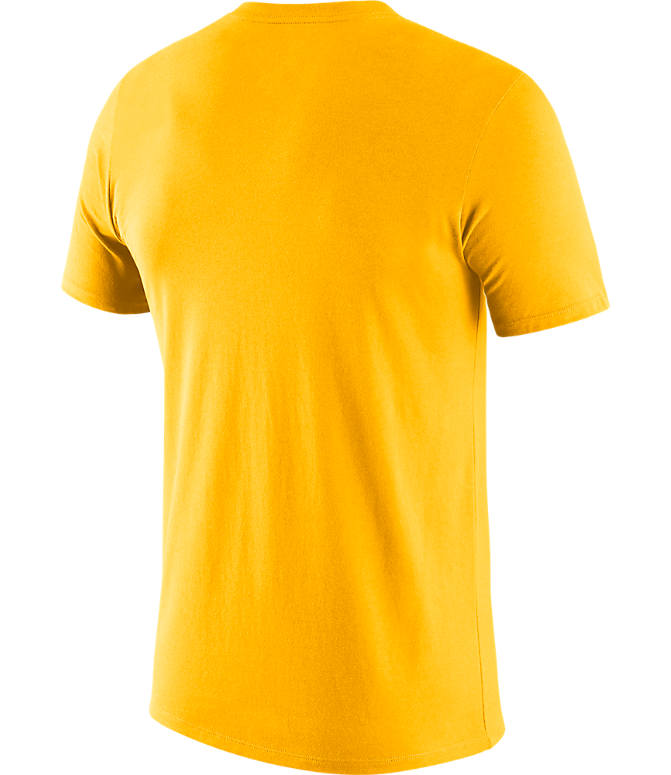 Back view of Men's Nike Indiana Pacers NBA Mezzo Logo Performance T-Shirt in Amarillo