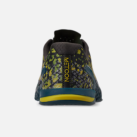 Back view of Men's Nike Metcon 4 XD Training Shoes in Sequoia/Desert Moss/Nightshade