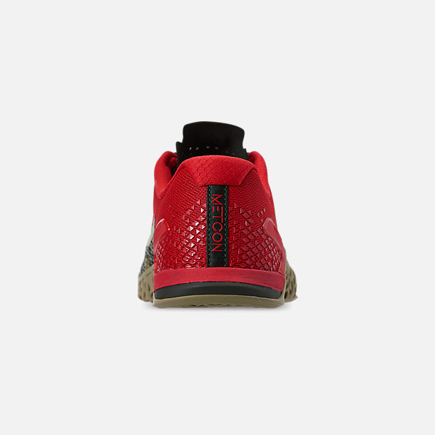 Back view of Men's Nike Metcon 4 XD Training Shoes in Camo/Red/Grey