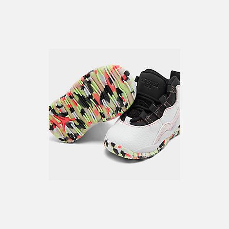 cheaper f7e8e be280 Girls' Toddler Air Jordan Retro 10 SE Basketball Shoes