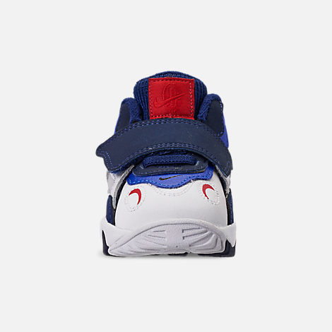 Front view of Boys' Toddler Nike Speed Turf Training Shoes in White/University Red/Blue Void