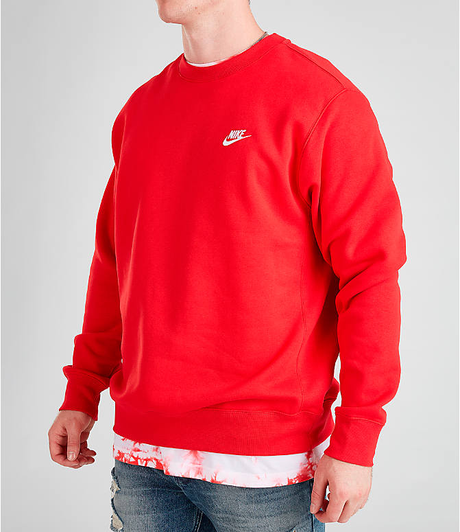 Men's Nike Sportswear Club Fleece Crewneck Sweatshirt by Nike