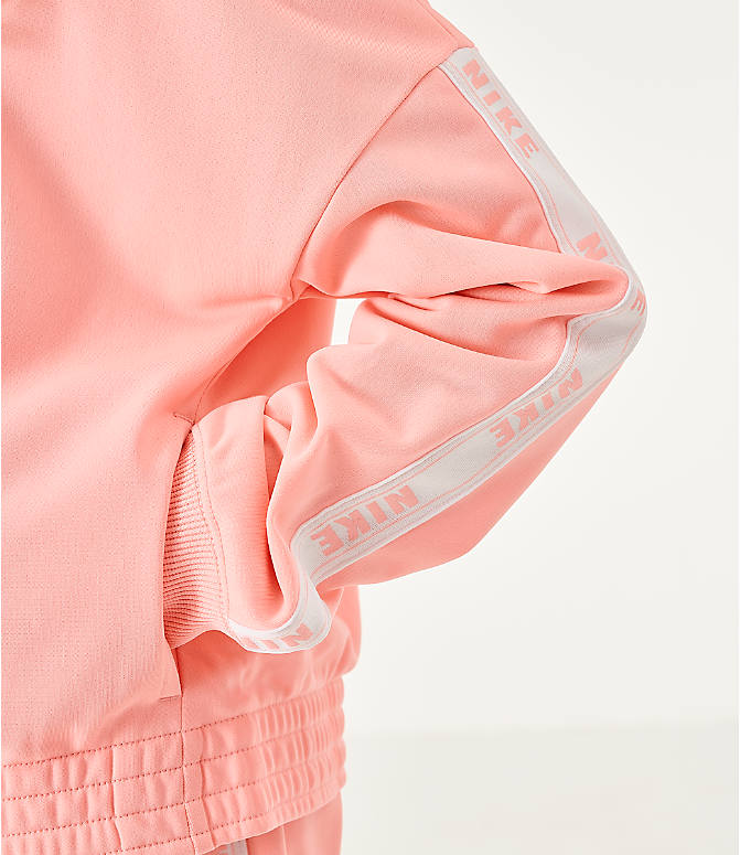 On Model 5 view of Girls' Nike Sportswear Track Suit in Bleached Coral